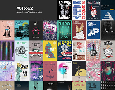 52 Poster — One Hour One Week One Poster Challenge 2018