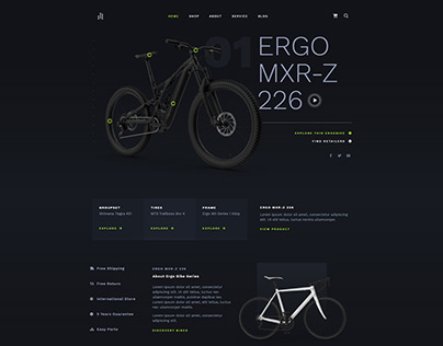 Bike Cycling Web Design 2021