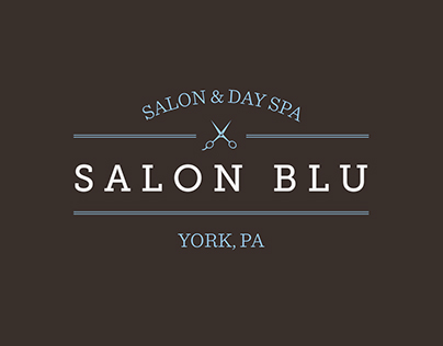 Salon Blu Rebranding - Identity, Print & Web