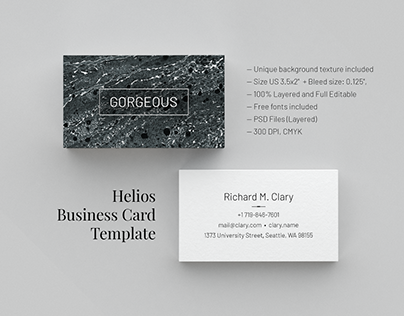 Gorgeous. Business Card Template
