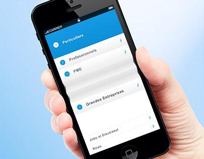 Mobile Website Electrabel.be