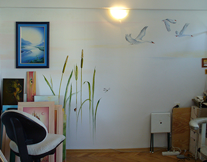 """Flight to Freedom"" from my old studio (Warsaw, Poland)"