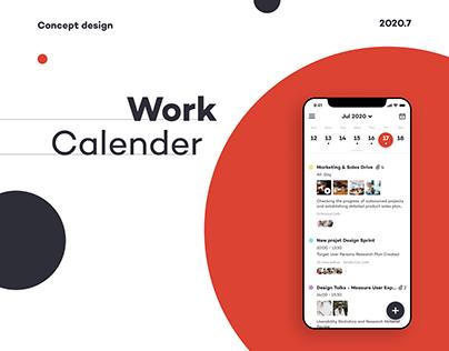 Calender Concept App Design