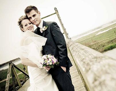 Belysning af bryllupsfotos