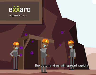Exxaro Mine Covid-19 Animation