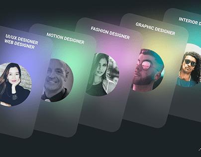 Profile Cards | UI/UX Cards | Дизайн Карты