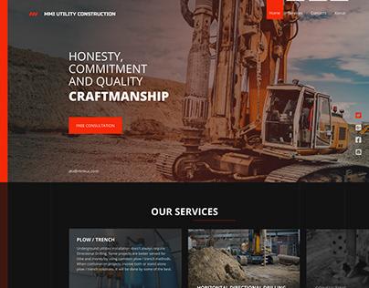MMI UTILITY CONSTRUCTION Редизайн сайта партнеров