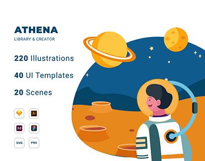 Athena Illustration Library & Creator