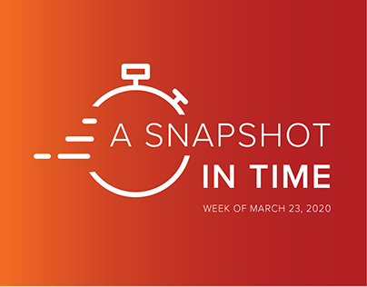 A Snapshot in Time: Week of March 23, 2020
