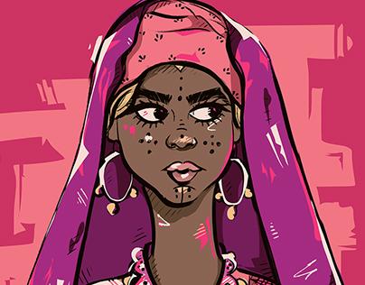 """ We Are African "" illustration portfolio ."