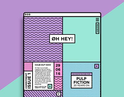 Oh Hey! Magazine – Website Design