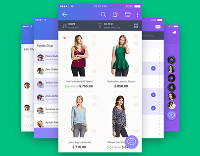 Shopping application with chat feature