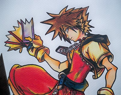 Illustration Handmade | Kingdom Hearts Playing Card
