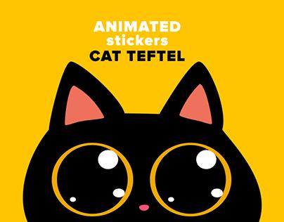 Cat Teftel — Animated Stickers For Telegram