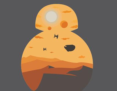 BB-8 Sunset