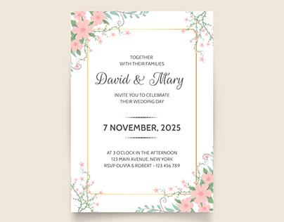 Wedding invitation template Free Download