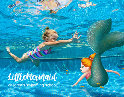 Brand characters for children's swimming school