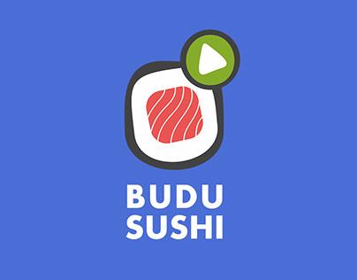 Фирменный стиль для суши-кафе 'BUDU SUSHI'