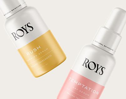 Roys Natural Skincare Branding