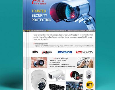 Flyer for Reliance CCTV equipment