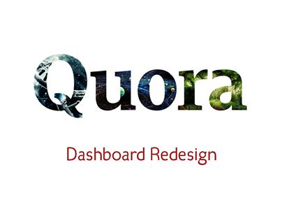 Quora Redesign concept (Dashboard)