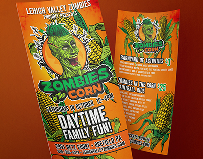 Zombies In The Corn Corporate Identity & Flyer