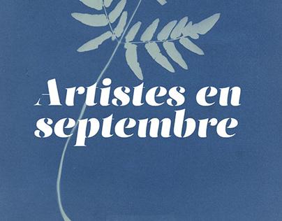 Artistes en septembre