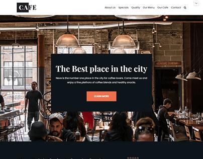 Best Cafe Shop Web Page Design