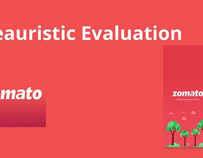 Heuristic Evaluation - Zomato