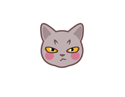 Grey Cat emoji表情包:喵先生