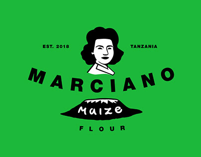 Marciano Organic Maize Flour Logo and Packaging design