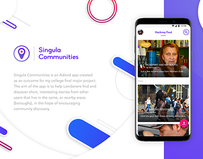 Singula Communities app design