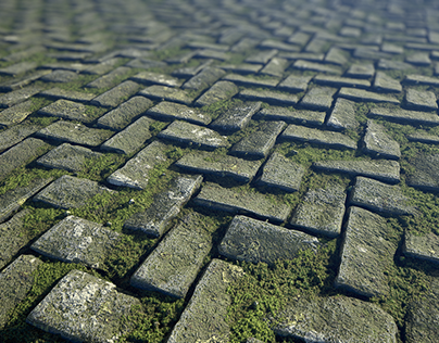 Substance Designer Mossy Cobblestone Material