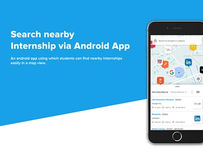 UI UX Design | Internship via Map App