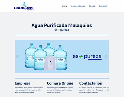 Sitio Web Aguas Malaquias