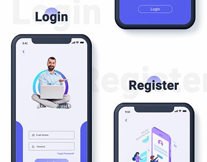 Login For Wallet App Design