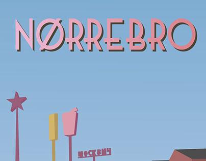 """Nørrebro Poster of """"Den Røde Plads"""""""