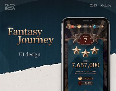 Fantasy Journey - game UI design