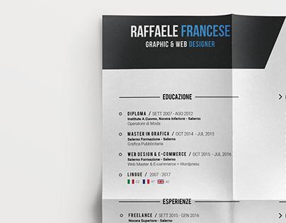 Professional Resume #2 ◈ Raffaele Francese ◈