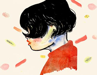 Fashion Illustration_Girl with short hair.