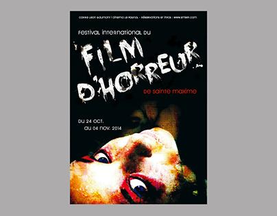 Affiche pour un festival du film d'horreur