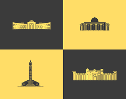 Sharjah iconic buildings (icons)