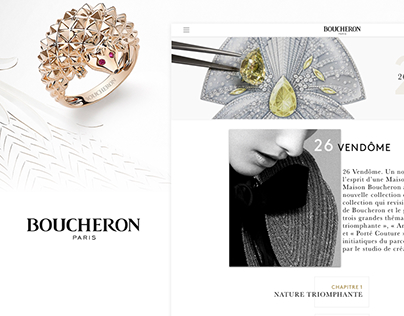 Boucheron - Website redesign