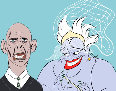 The bad couples. Úrsula and Voldemort.