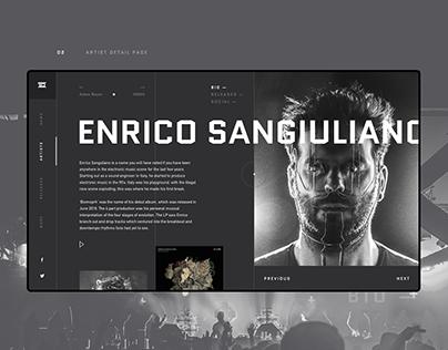 Drumcode Website Redesign