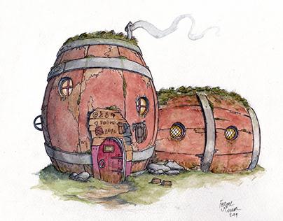 The Mossy Barrel Tavern.
