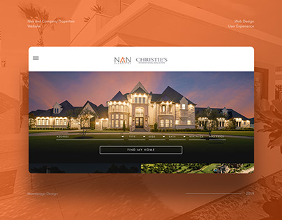 Web Design Concept for Luxury Real Estate Firm