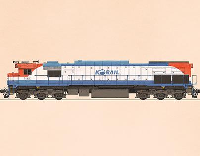 2021 Korea Railroad Calendar illustration