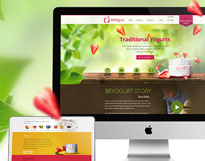 BeYogurt new tasty website