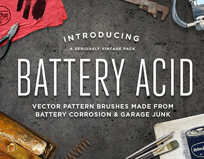 Battery Acid Vector Brushes by RetroSupply Co.